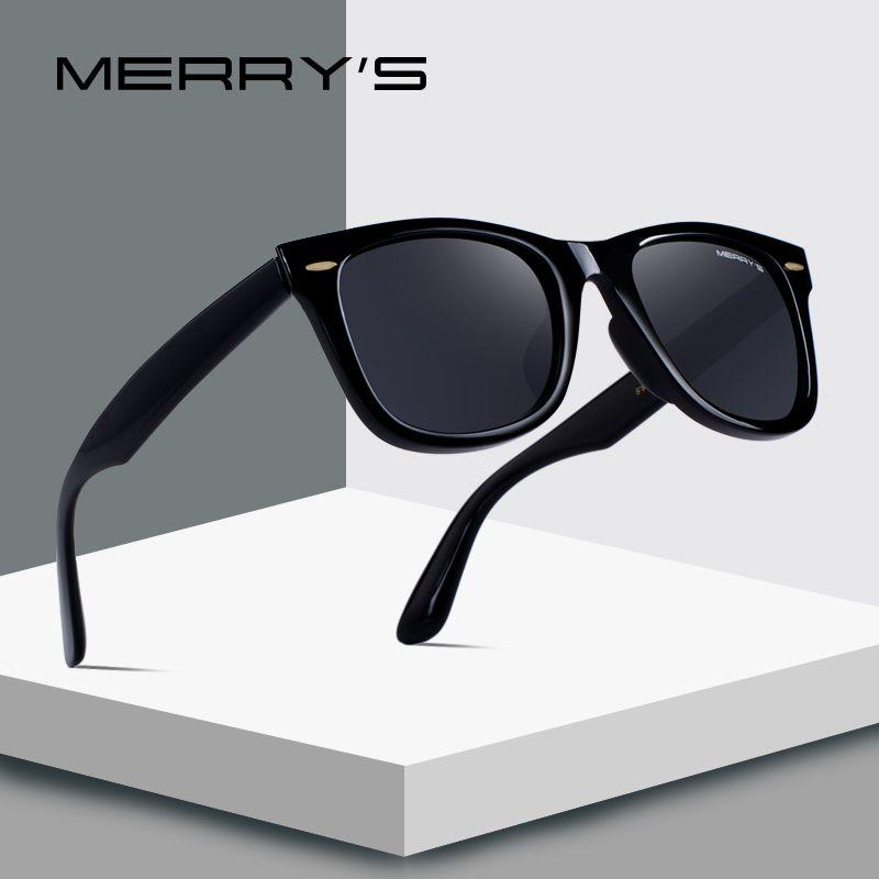 MERRY'S DESIGN Men/<font><b>Women</b></font> Classic Retro Rivet Polarized Sunglasses 100% UV Protection S'8140