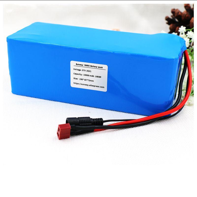 Sunway 36 V 10000 mah 500 Watt High power & kapazität 42 V 18650 lithium-akku ebike elektrische auto fahrrad motorroller mit BMS