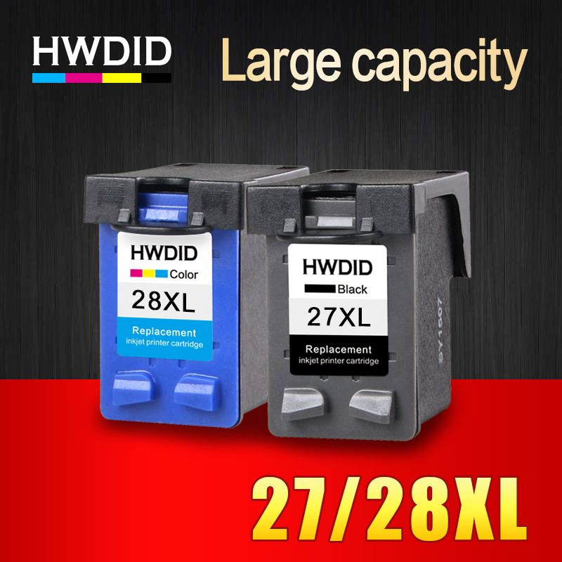 HWDID 27XL 28XL Refilled Ink Cartridge Replacement For HP 27 28 XL for HP Deskjet 450 450CI 5550 3420 3520 3550 3650 3740 3845
