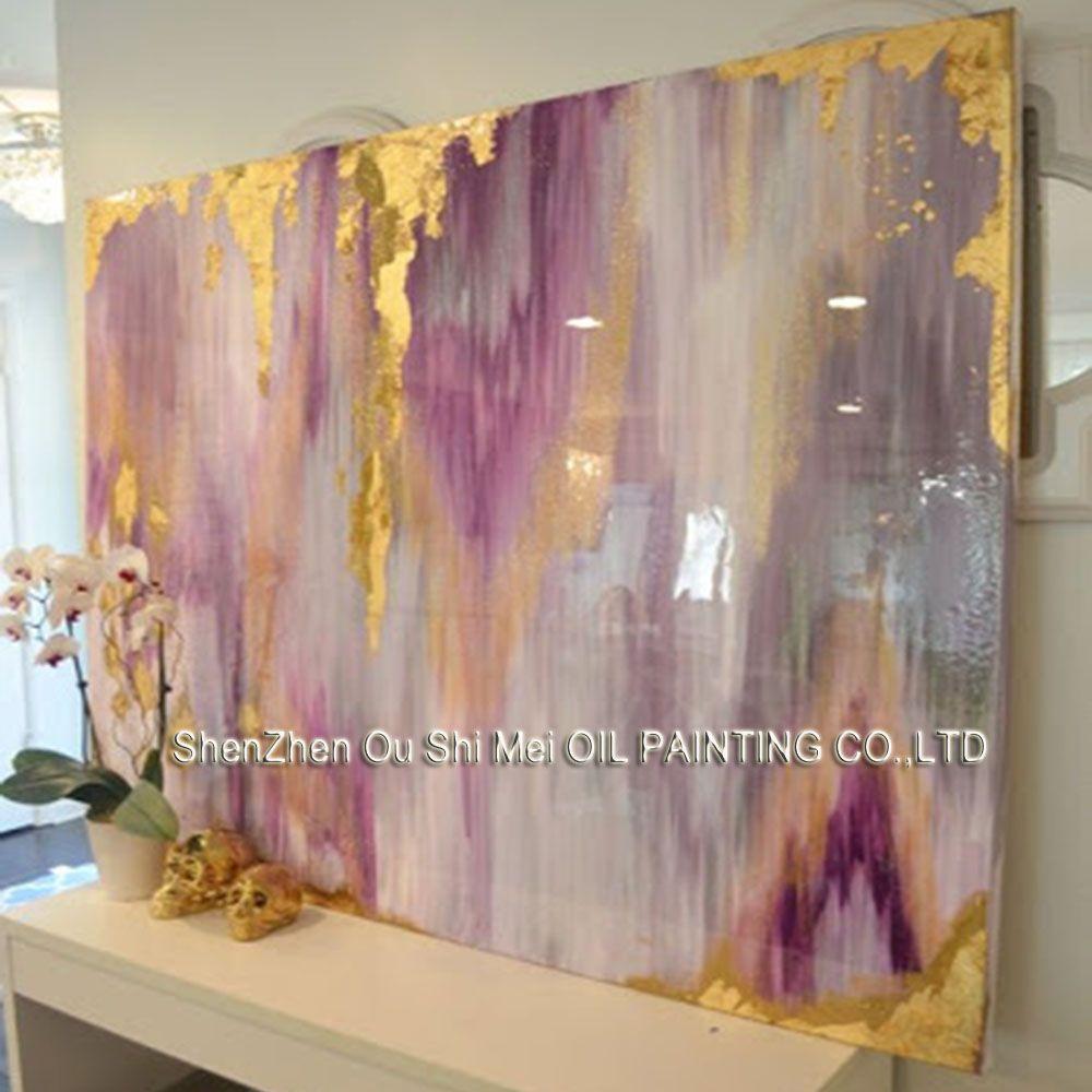 Artiste professionnel À La Main Coloré Violet Abstrait Peinture À L'huile sur Toile Belle Rich Color Peinture À L'huile pour la Décoration des Chambres