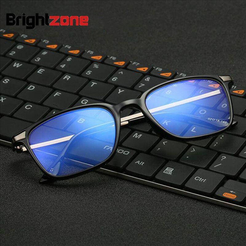 Ретро Винтаж анти-голубой лучи синий светофильтр TR90 Обычная глаз Очки ясно Плано Компьютер глаз Очки Для мужчин Gafas oculos-де-грау