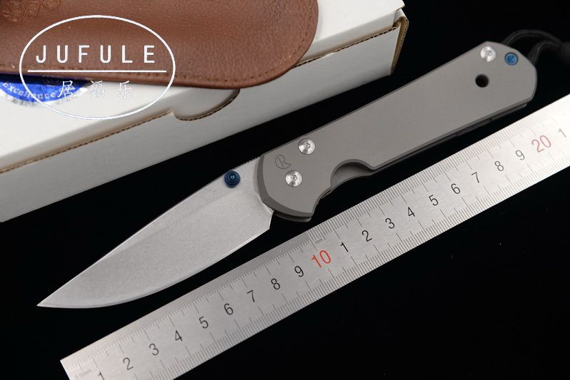 JUFULE Large Sebenza 21 folding S35vn TC4 Titanium handle cleaver Utility fruit paring camp survive hunt EDC tool kitchen knife