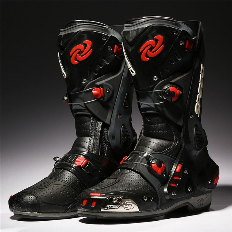 PRO-BIKER Motorcycle Boots Protective Motocross Racing Speed Motorbike Shoes Moto Boot Dirt Bike Cycling Sports Botas B1003