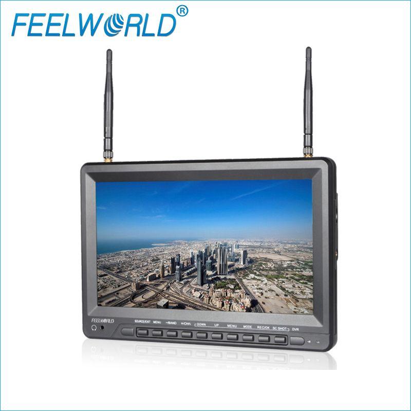 Feelworld PVR1032 10,1 Zoll IPS HD Fpv-monitor mit DVR Eingebaute Batterie Dual 5,8G 40CH Diversity Empfänger 10,1