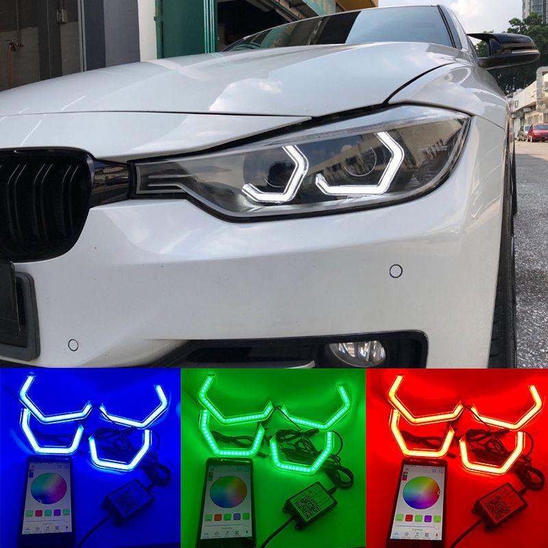 WIFI RGB Multi-color Concept M4 Iconic Style Crystal LED Angel Eye Kits for BMW 2 series M235i 220i 228i 218i M240i 230i 225i