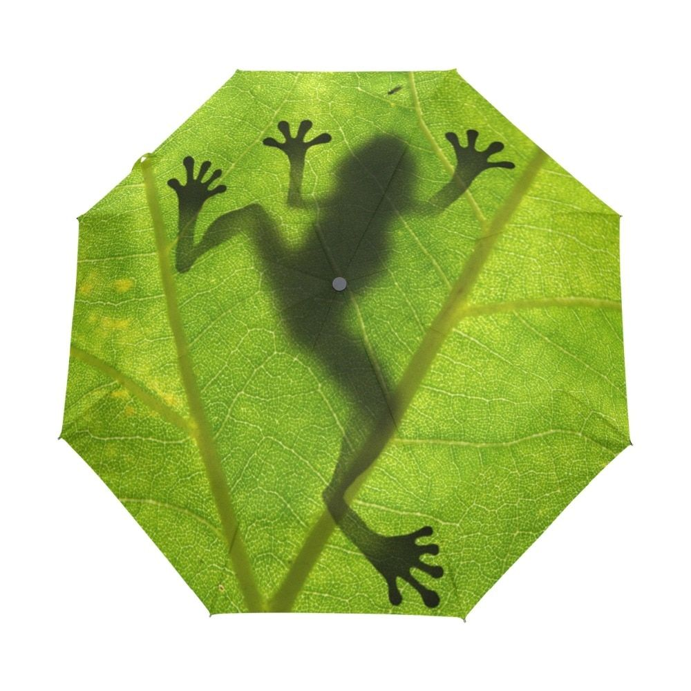 2018 New Creative Frog Children Umbrella Three Folding <font><b>Green</b></font> Umbrella Rain Women Sunscreen Anti UV Brand Umbrellas