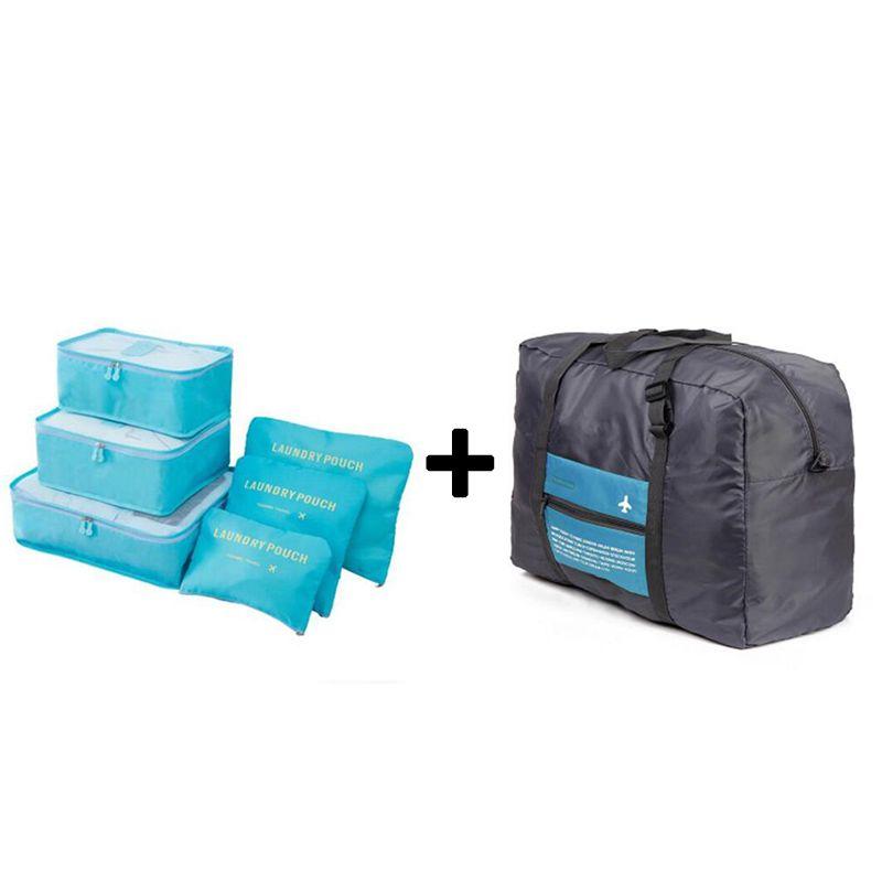 2018 mode femmes voyage sacs voyage sacs à main hommes et femmes bagages emballage Cubes organisateur Nylon pliant sac sacs en gros