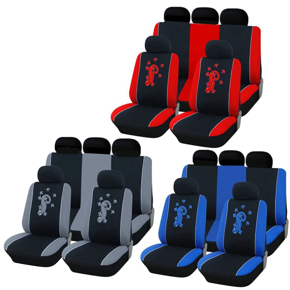 1 Set Universal Car Seat Cover Salamander Pattern Car Polyester Fabric Embroidery Updated Version Car-styling Hot Drop Shipping
