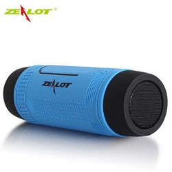 ZEALOT S1 Waterproof Bluetooth Speaker Wireless Portable Outdoor Speaker With LED Flashlight Support TF FM Radio For Phones PC