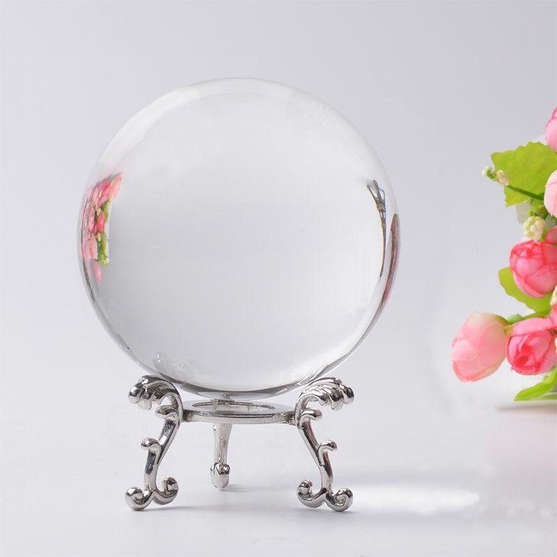 6/7/8 cm Clair Quartz Boule de Cristal Naturel Ambre Pierres Feng Shui Verre Photographie Balls Sphère Maison décor Bonne Chance Cadeau Globe