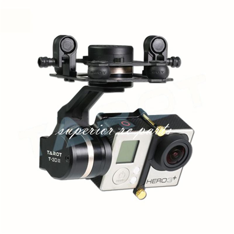 Tarot TL3T01 Update from T4-3D 3D Metal 3-axis Brushless Gimbal for GOPRO GOPRO4/GOpro3+/Gopro3 FPV Photography 50% OFF