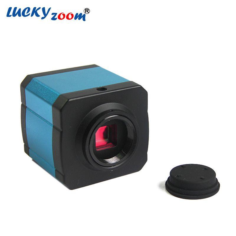 Luckyzoom HD 14MP HDMI USB Digital Industry Video Camera For <font><b>Stereo</b></font> Zoom Microscope Trinocular Microscopio Adapter Free Shipping