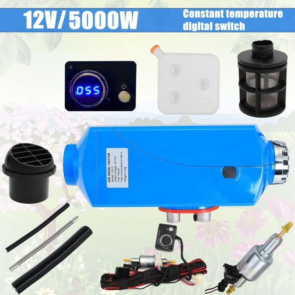 12V 8000W Durable Use LCD Schalter Vehicle Air Diesel Heater For Cars Trucks Yachts Boats Motor-Homes Air Parking Heater