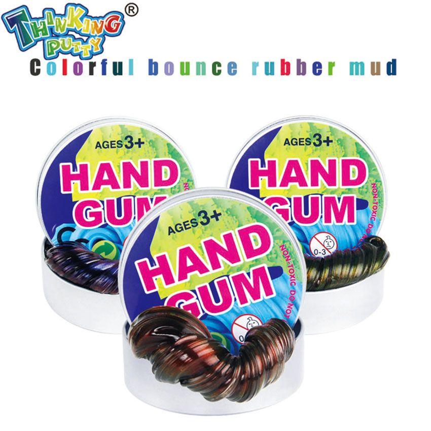 Denken Kitt DIY Verfärbung Plastilin Kreative Starry Hand Gum Bunte Schleim Dumme Helle Licht Lehm Fimo Spielzeug Kinder Geschenke