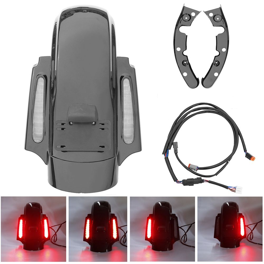 For Harley Touring Street Glide Road King Road Glide Electra Glide 2009-2013 CVO Style Rear Fender LED System FLHTP FLHTCU FLHRC