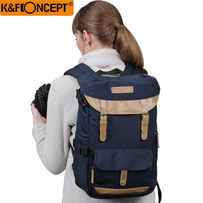 K & F CONCEPT grande capacité multi-fonctionnelle étanche caméra sac à dos sac de voyage avec ceinture de poitrine tenir trépied SLR
