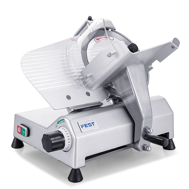 FEST Mutton Meat Slicer Commercial Meat Planer Slicing Machine 10.5 Inches Automatic Lamb Kebab Roll Beef Roll Grinder
