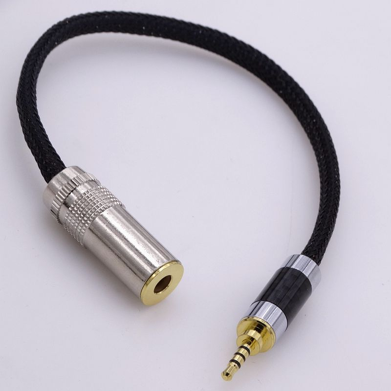 10cm hi-end 4 core copper wires 2.5mm TRRS to 4.4mm female audio adapter cable for Astell&Kern sony headphones