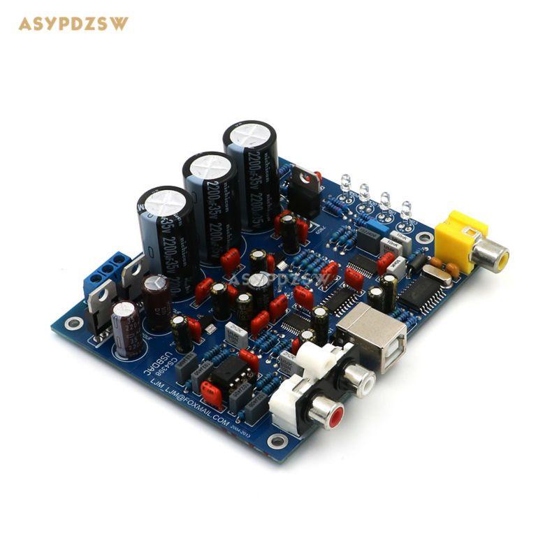 Montiert CS8416 CS4398 DAC board mit USB Coaxial 24/192 Karat decoder fertige board AC15V 32 Karat-192 Karat/24BIT