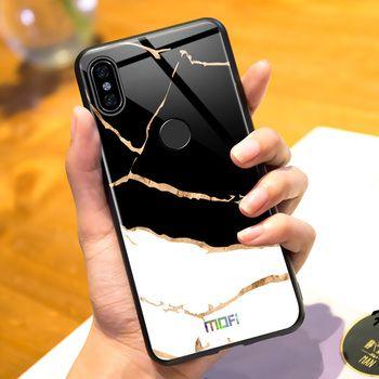 Redmi note 5 case for Xiaomi redmi note 5 case cover Mofi tempered glass cover redmi note5 capa coque marble grain black white