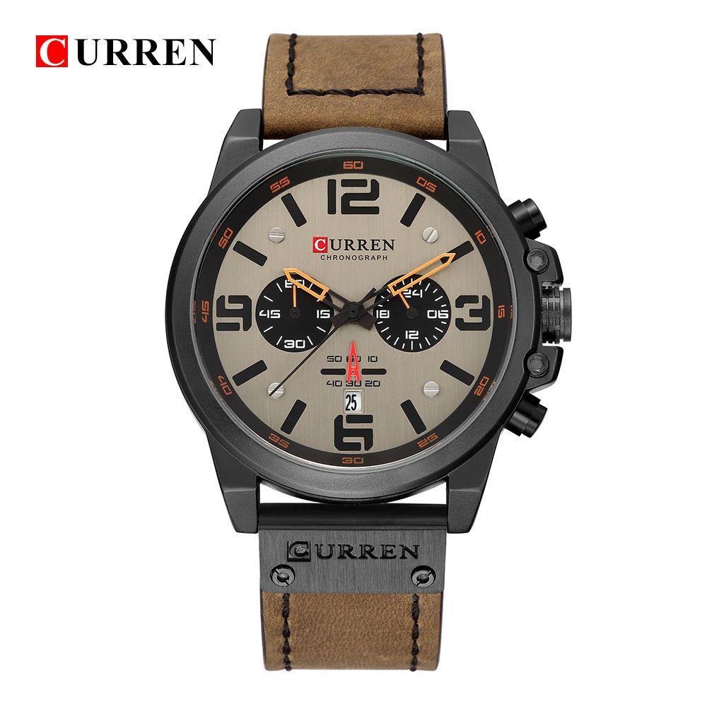 New curren 8314 Mens Watches Top Brand Luxury Men Military Sport Wristwatch Leather Quartz Watch erkek saat Relogio Masculino N9