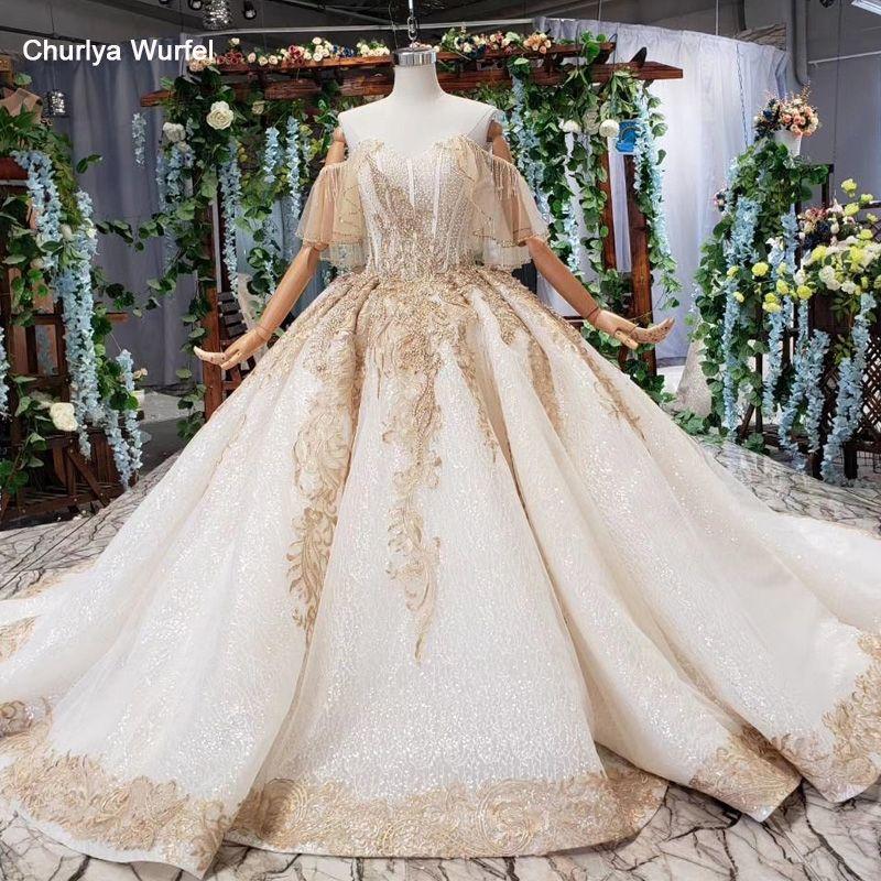 HTL535 off schulter hochzeit kleid mit zug liebsten champagne spitze braut kleid 2019 echt preis vestido de noiva pluz größe