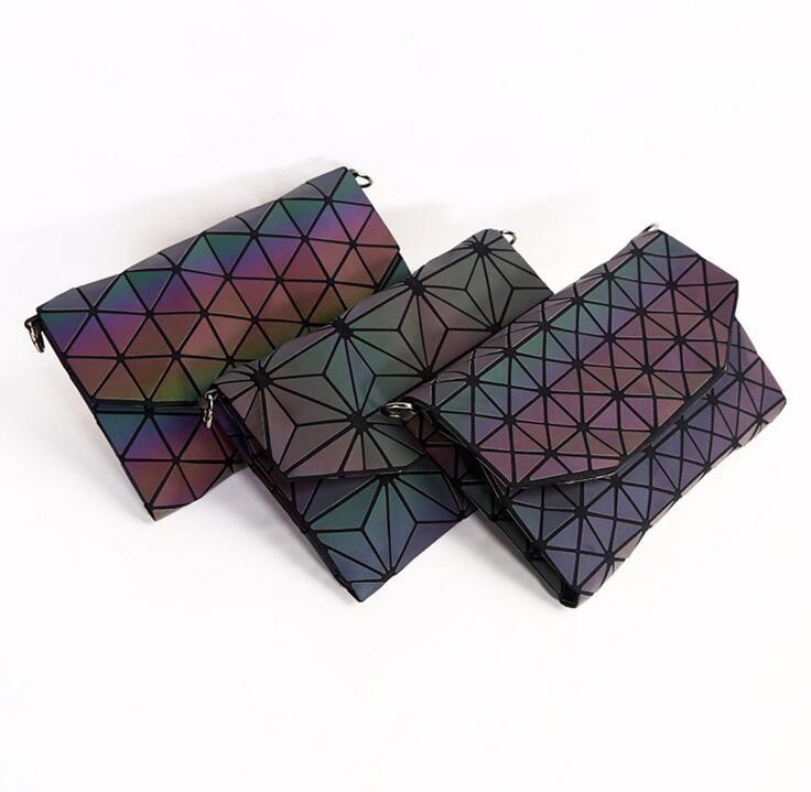 Maelove New Luminous Bag Women's Geometry Clutch Handbag Crossbody shoulder bag Luxury handbag for women 2018 Free Shipping