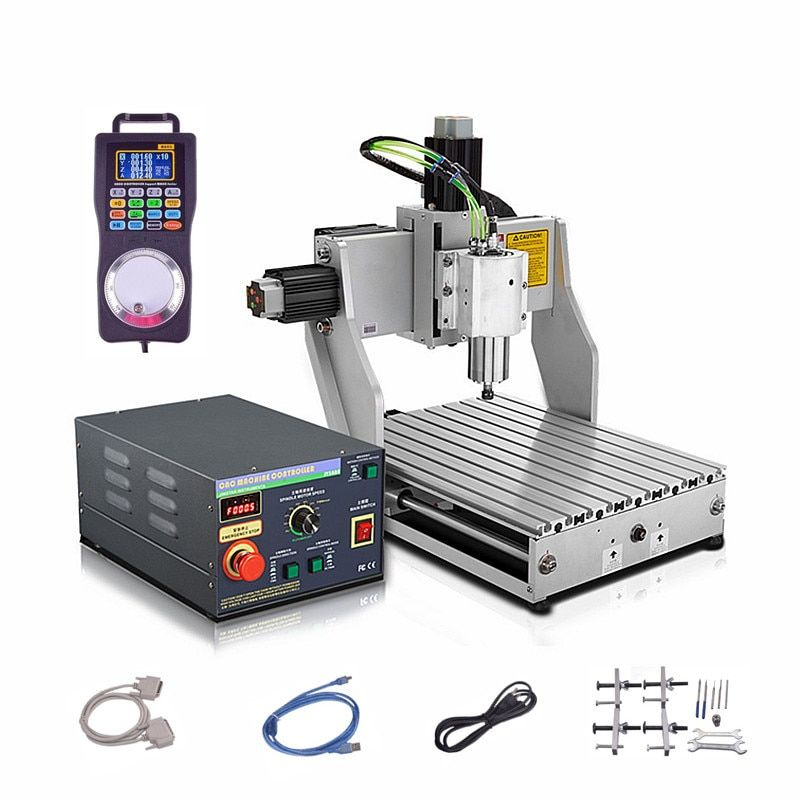 800W 1.5KW 2200W water cooled spindle Industrial mini cnc milling machine 3axis metal engrave wood router 3040