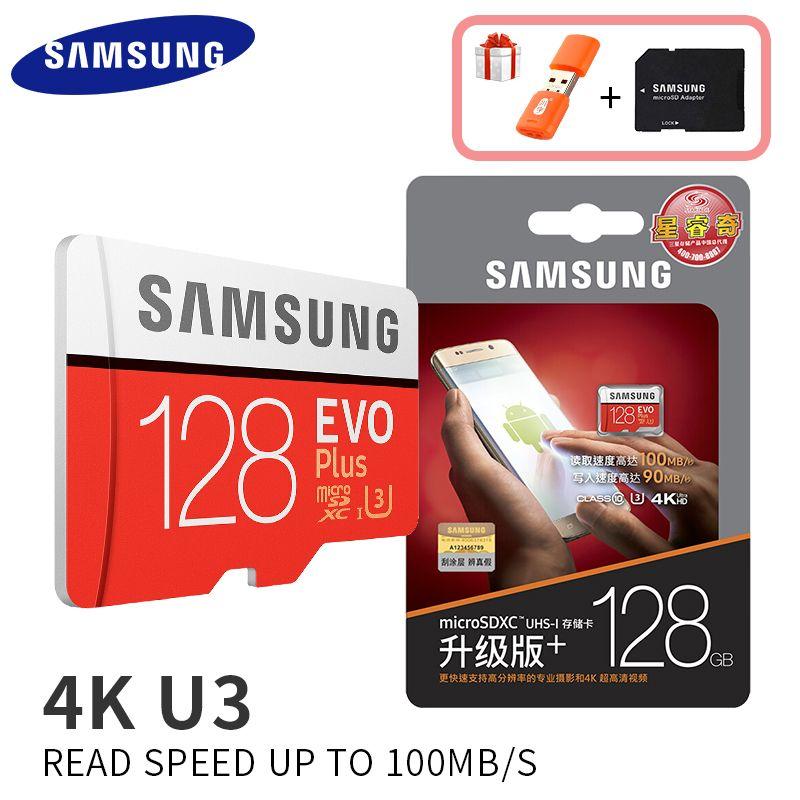 SAMSUNG Carte Mémoire EVO 32g 95 mb/s SDHC MicroSD 64 gb 128 gb 256 gb 4 k 100 mb/s SDXC Classe 10 Micro SD C10 UHS TF Trans Flash Cartes