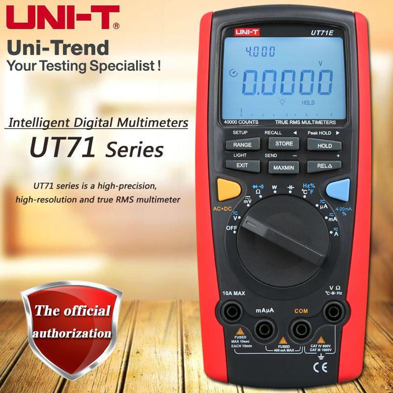 UNI-T UT71A UT71B UT71C UT71D UT71E True RMS Smart Digital Multimeter/USB, Bluetooth/Full Range Overload Protection/Backlight