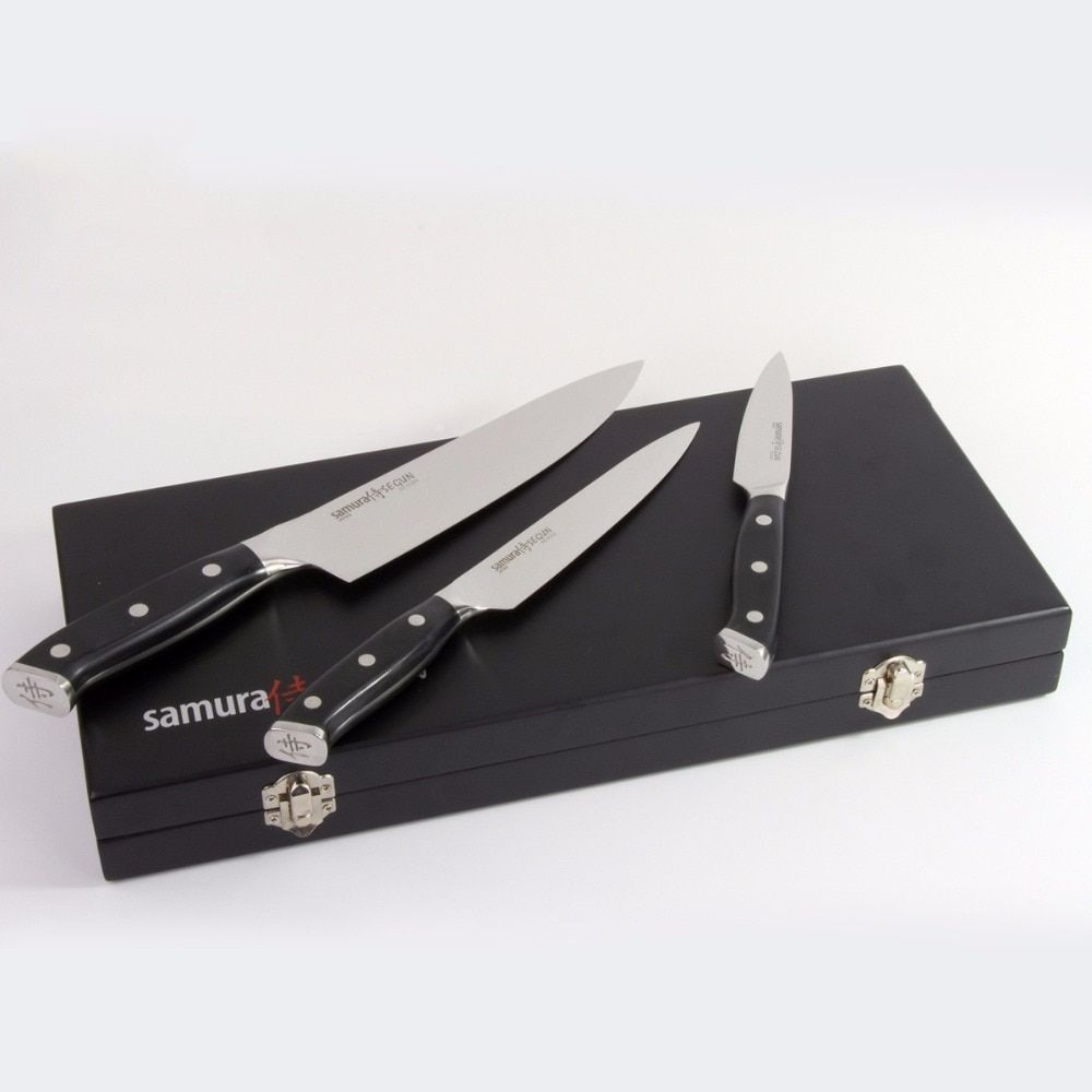 Kitchen Knife Set 3 Pcs 8 Inch Chef Knife 6 Inch Utility Knife 3.5 Inch Paring Knife AUS-10 Japanese Stainless Steel