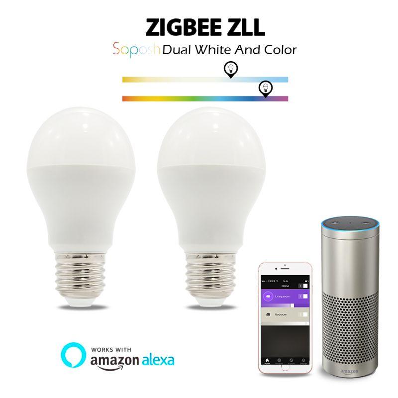 Shenzhen GLEDOPTO factory direct selling 6W RGB+dual white led bulb rgbww Zigbee zll lingt link bulb with many gateways