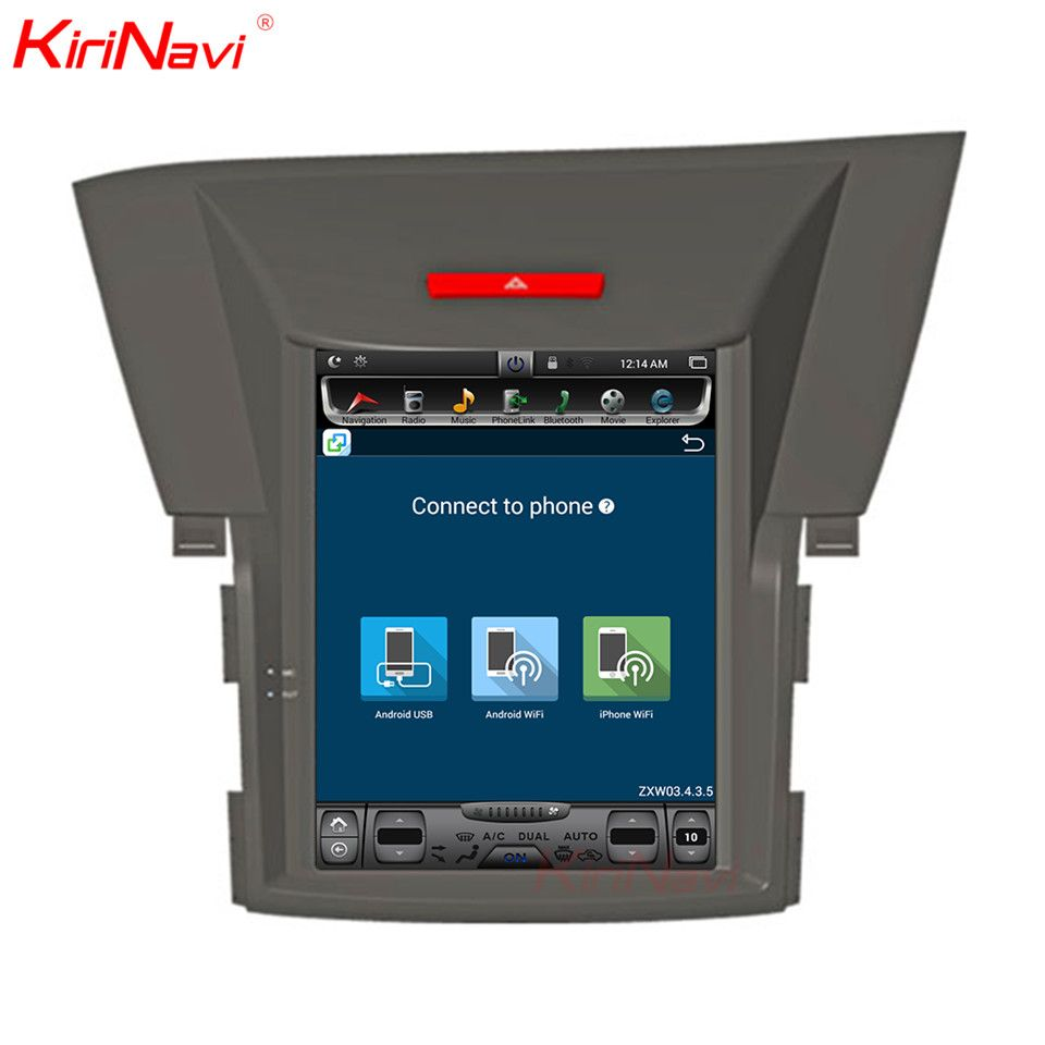 KiriNavi Vertical Screen Tesla Style Android 6.0 10.4 Inch Car Radio For Honda Crv 2 Din Dvd Gps Navigation System 2013 20142015