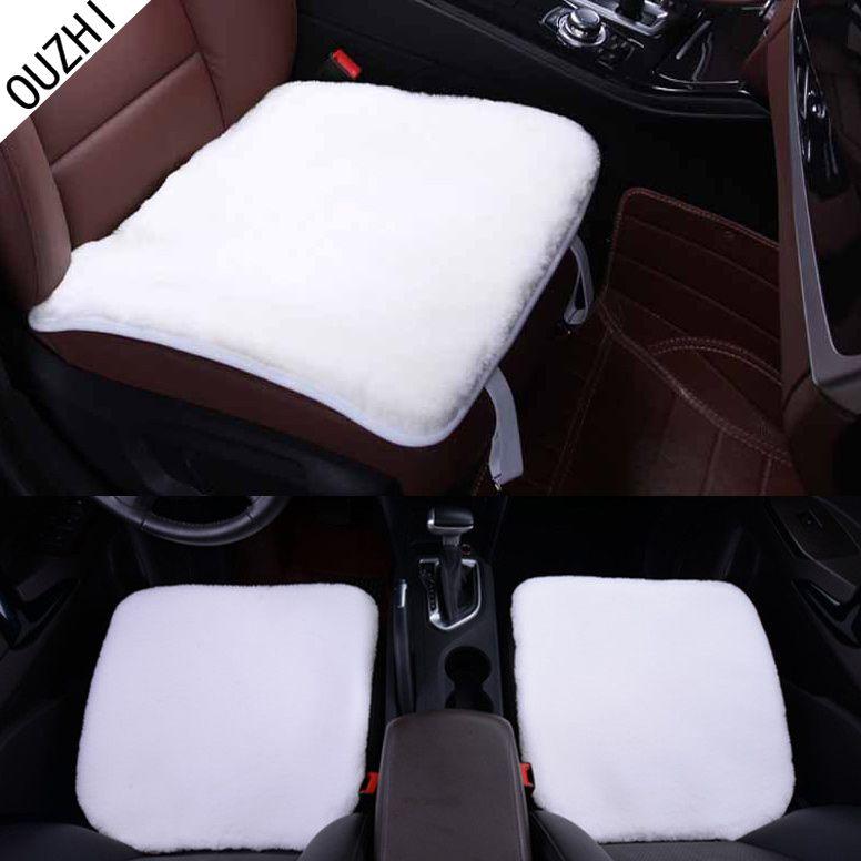 Ouzhi 1 шт. черные, Бежевые Коричневые белые мягкие теплые плюшевые меховые чехлы на сиденья автомобиля универсальный автомобиль и дом