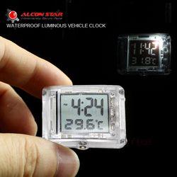 Vehincal Alconstar-Motocicleta Luminosa Reloj Reloj para Honda para Yamaha ATV Moto Coche Eléctrico de La Bicicleta con la Temperatura