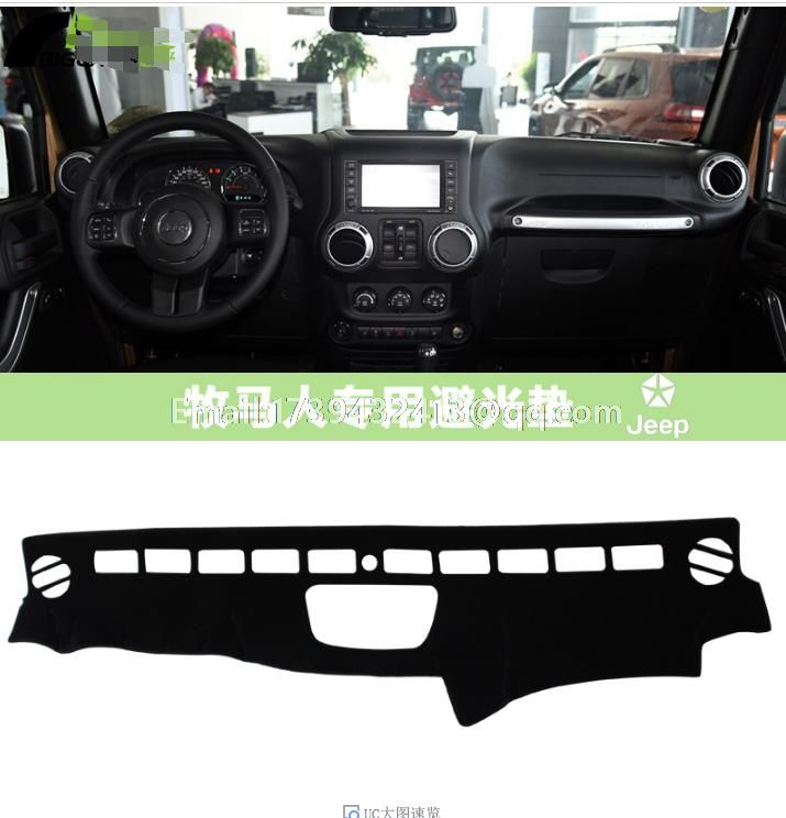 for jeep wrangler Unlimited Sahara JK TJL-J8 2011 2012 2013 2014 2015 2016 dashmats car-styling accessories dashboard cover