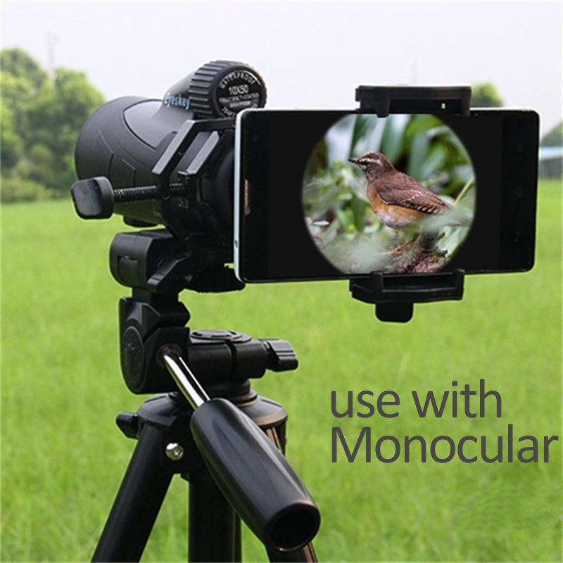 HUANEE Universal Cell Phone Adapter Mount- Compatible with Binocular Monocular Spotting Scope Telescope and Microscope adapter
