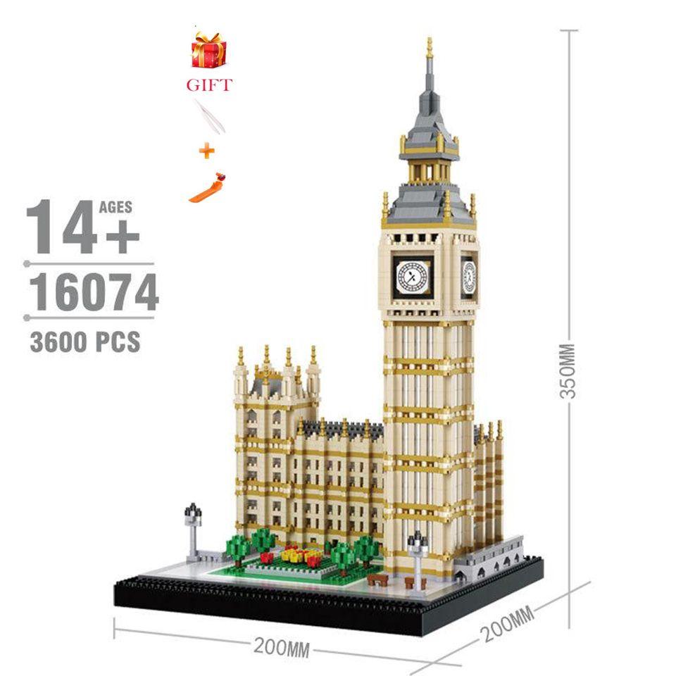 Berühmte Klassische Welt Architektur Modell Big Ben Bausteine Spielzeug Pädagogisches Modell Ziegel Kinder Geschenke