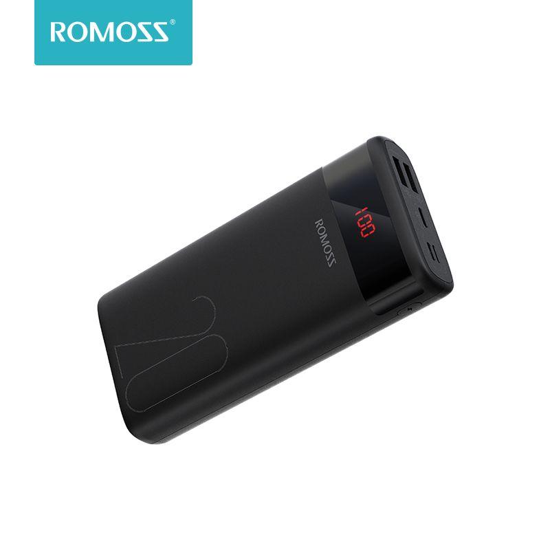 ROMOSS Ares 20 20000 mAh batterie externe USB Type chargeur Portable batterie externe 5 V 2.1A avec affichage LED pour téléphones tablette