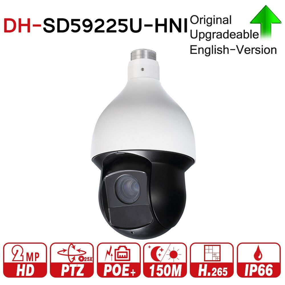 DH SD59225U-HNI 2MP 25x Starlight IR PTZ Network IP Camera 4.8-120mm 150m IR Starlight H.265 Encoding Auto-tracking IVS PoE+