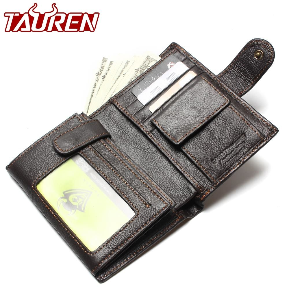 Retro Practical Oil Waxing Leather Travel Wallet Cowhide Genuine Thickening Vintage Men Men's Purse Passport Wallets