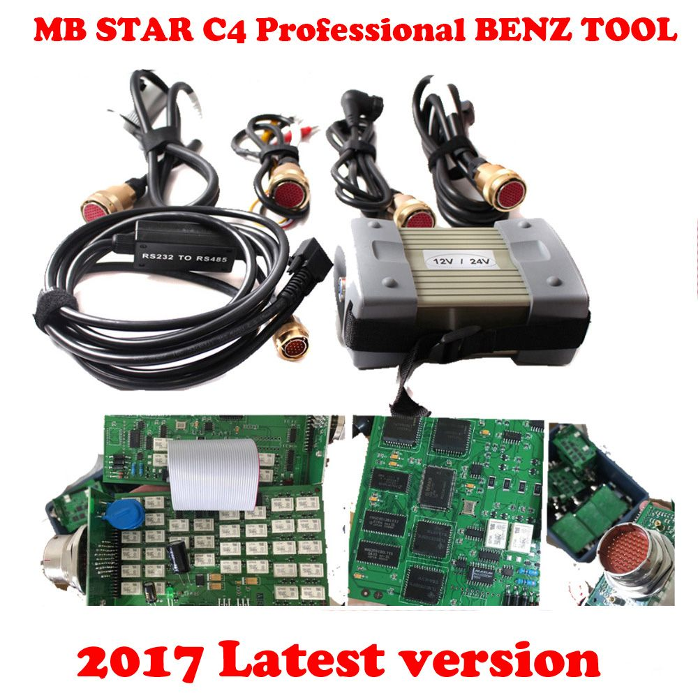 2018 High Quality star diagnosis Mb Star C3 Red port obd2 Diagnostic Tool With Software 2018-07 Free Gift R232 To USB cable