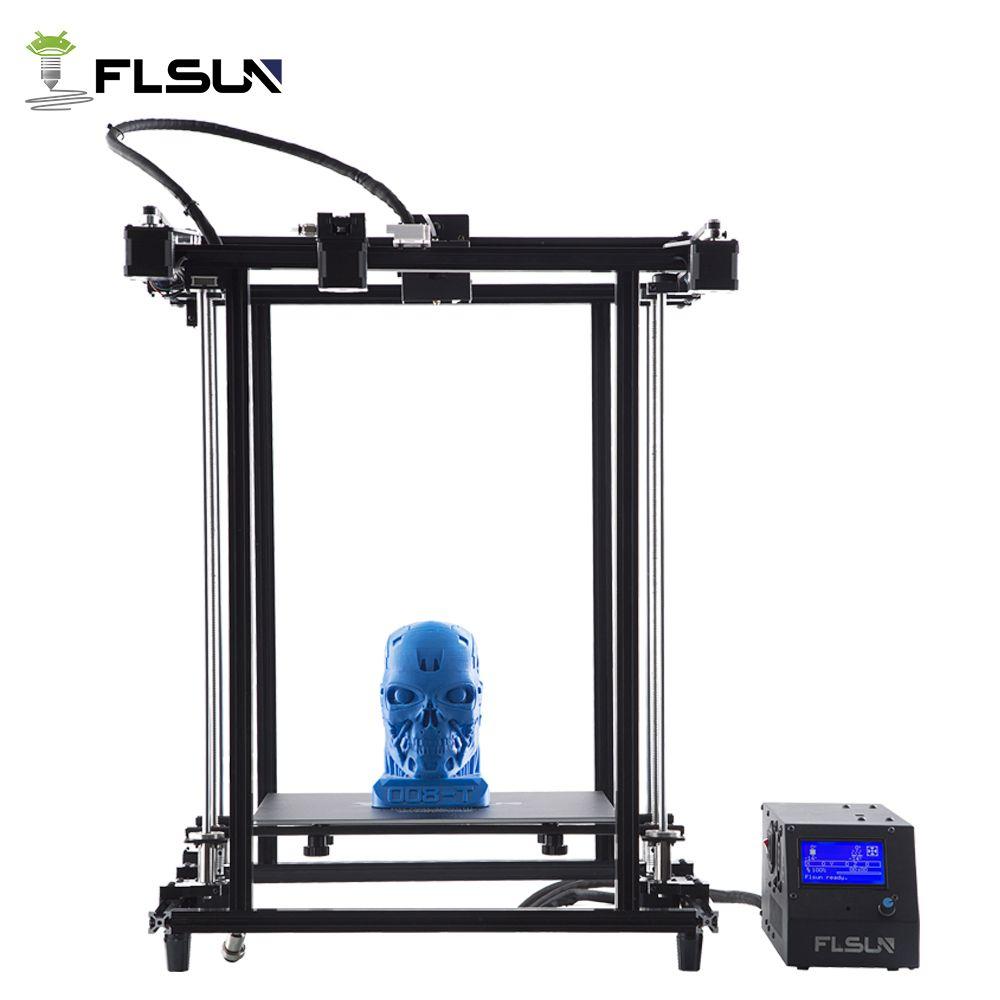 Flsun 3D Drucker Pre-montage druck Größe 320*320*460mm Druck Bereich Metall Rahmen Hohe Präzision erhitzt Bett Unterstützung