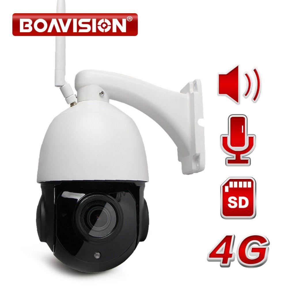 1080P 3G 4G WIFI Speed Dome PTZ IP Camera Wi-Fi Outdoor Two Way Audio Speaker 4X 18X Optical Zoom CCTV Camera SIM Card SD Card
