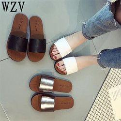 Mujeres sandalias 2018 nueva moda Zapatillas plataforma sandalias verano Flip Flops cómodo Peep Toe zapatos planos K002