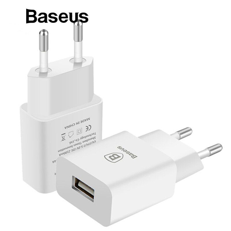 Baseus USB Charger For Mobile Phone EU Charger Plug Travel Wall Charger Adapter For iPhone iPad Samsung Xiaomi Phone Charger