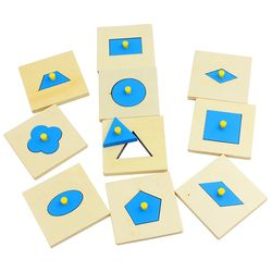 Home Edition Montessori Math Mainan Kayu Bentuk Geometri Insets Set/10 Biru Pendidikan Anak Usia Dini Prasekolah Pelatihan Mainan Anak