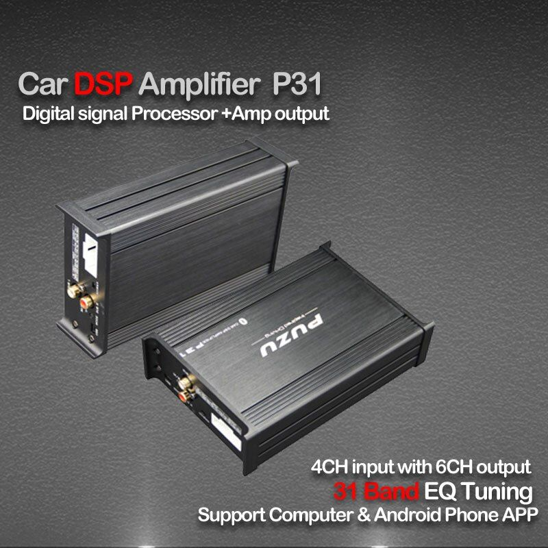 PUZU P31S Car signal Processor Amplifier 4ch to 6CH support computer31 Band tuning android app car DSP audio