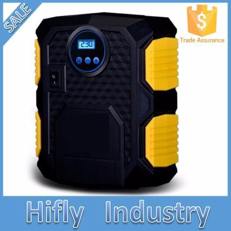 Pre-set Digital Display Auto Car Tire Inflator 12V Electric Car Air Compressor Pump LED Light Digital Inflatable Pump