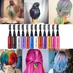 Высококачественный модный крем для волос 13 цветов Временная Краска для волос Тушь нетоксичный DIY красящая ручка для ухода за волосами